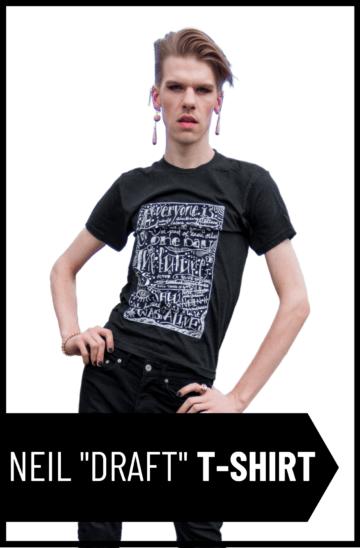 "Neil Hilborn ""Draft"" Unisex T-Shirt"