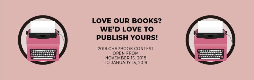 2018 Chapbook Contest Banner