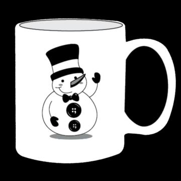 Button Snowman Mug